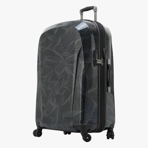 Large Check-In Spectrum Spinner Luggage - 28-inch in Black Front Quarter View in  in Color:Black in  in Description:Angled View