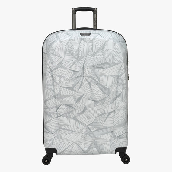 Large Check-In Spectrum Spinner Luggage - 28-inch in White Front View in  in Color:White in  in Description:Front