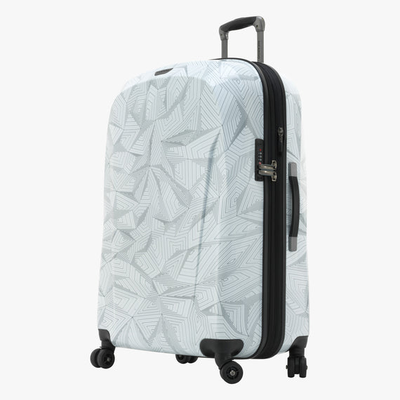 Large Check-In Spectrum Spinner Luggage - 28-inch in White Front Quarter View in  in Color:White in  in Description:Angled View