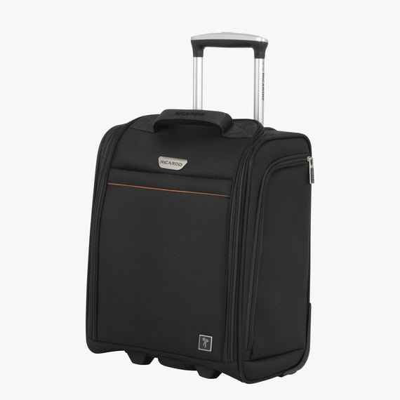 Small Carry-On Mar Vista 2.0 16-Inch 2-Wheel Under-Seat Carry-On in Black Front Quarter View in  in Color:Black in  in Description:Angled View