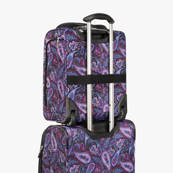 Small Carry-On Mar Vista 2.0 16-Inch 2-Wheel Under-Seat Carry-On in Midnight Paisley Back Strap in  in Color:Midnight Paisley in  in Description:Backstrap
