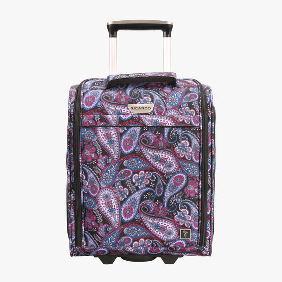 Small Carry-On Mar Vista 2.0 16-Inch 2-Wheel Under-Seat Carry-On in Midnight Paisley Front View in  in Color:Midnight Paisley in  in Description:Front