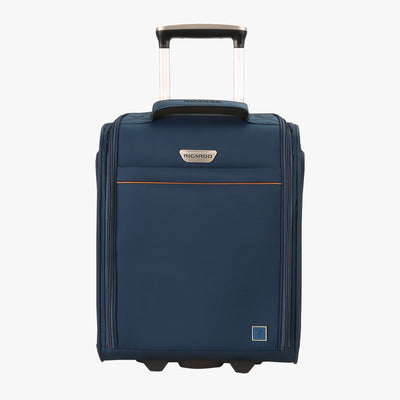 Mar Vista 2.0 16-Inch 2-Wheel Under-Seat Carry-On in Moroccan Blue Front View~~Color:Moroccan Blue~~Description:Front