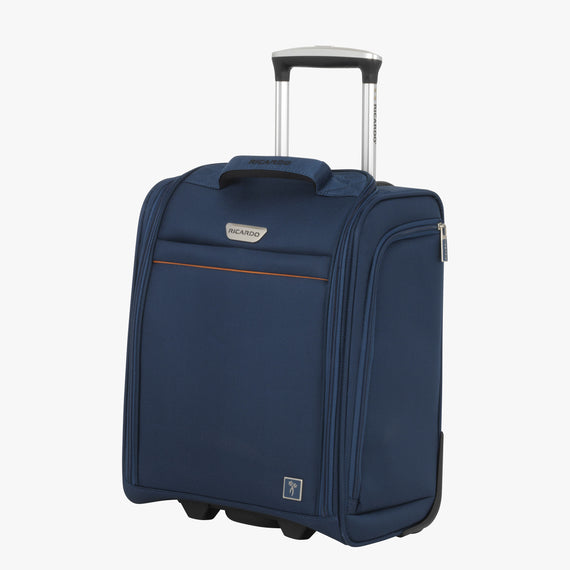 Small Carry-On Mar Vista 2.0 16-Inch 2-Wheel Under-Seat Carry-On in Moroccan Blue Front Quarter View in  in Color:Moroccan Blue in  in Description:Angled View