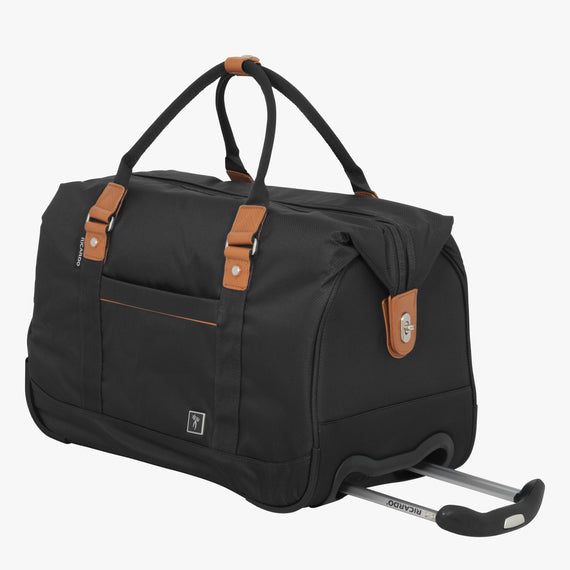 Weekender Rolling Duffel Mar Vista 2.0 Weekender Rolling Duffel in Black Front Quarter View in  in Color:Black in  in Description:Angled View