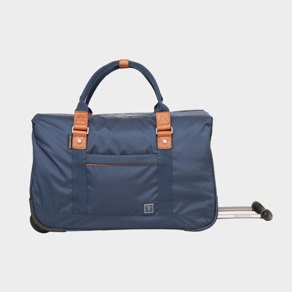 Weekender Rolling Duffel Mar Vista 2.0 Weekender Rolling Duffel in Moroccan Blue Front View in  in Color:Moroccan Blue in  in Description:Front