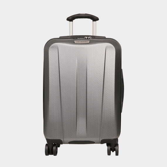 Carry-On San Clemente 21-Inch Carry-On Suitcase in Moon Silver Front View in  in Color:Moon Silver in  in Description:Front