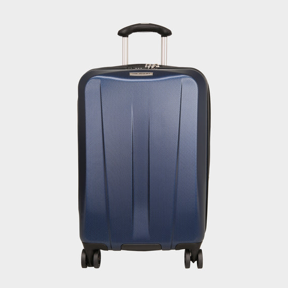 Carry-On San Clemente 21-Inch Carry-On Suitcase in Stellar Navy Front View in  in Color:Stellar Navy in  in Description:Front