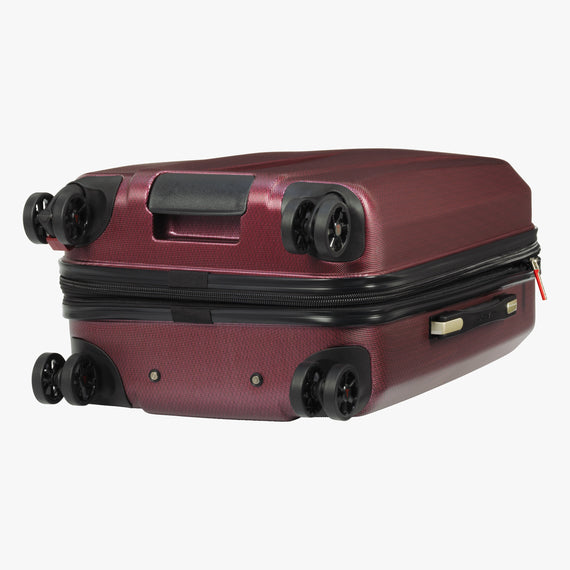 Carry-On San Clemente 21-inch Carry-On Suitcase in Red Bottom View in  in Color:Red Cherry in  in Description:Bottom