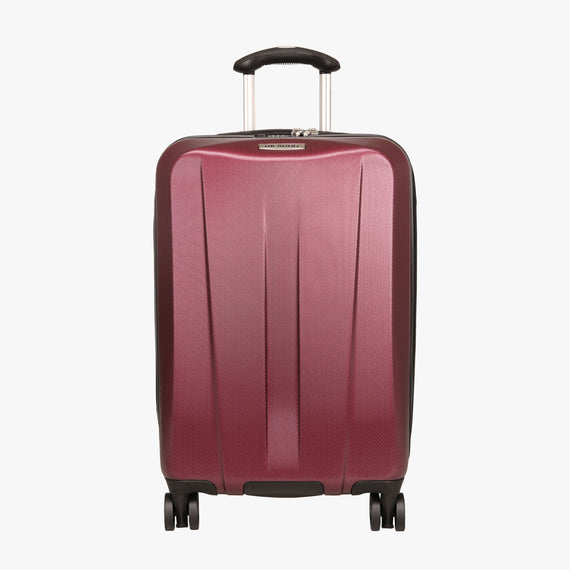 Carry-On San Clemente 21-inch Carry-On Suitcase in Red Front View in  in Color:Red Cherry in  in Description:Front