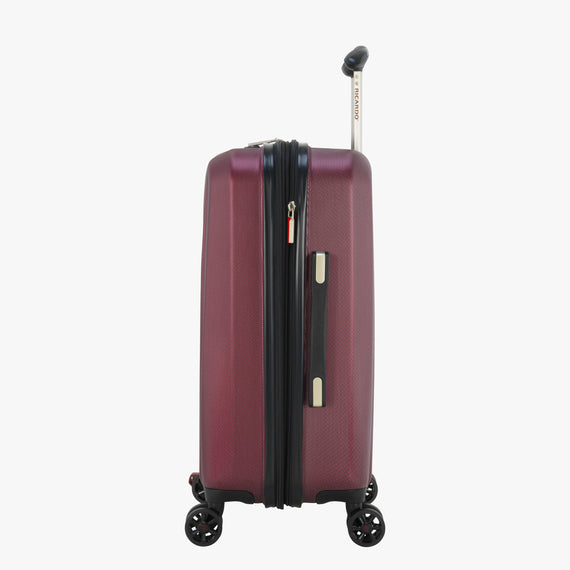 Carry-On San Clemente 21-inch Carry-On Suitcase in Red Side View in  in Color:Red Cherry in  in Description:Side