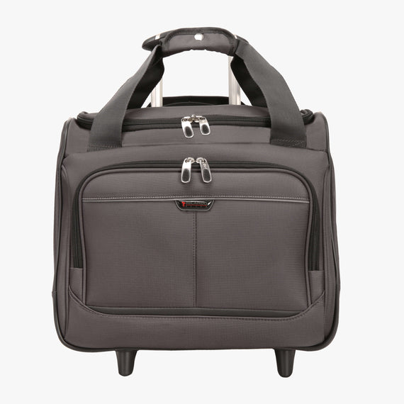 Small Carry-On Mar Vista Rolling Tote in Gray Front View in  in Color:Graphite in  in Description:Front