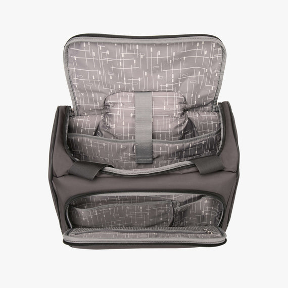 Small Carry-On Mar Vista Rolling Tote in Gray Open View in  in Color:Graphite in  in Description:Opened