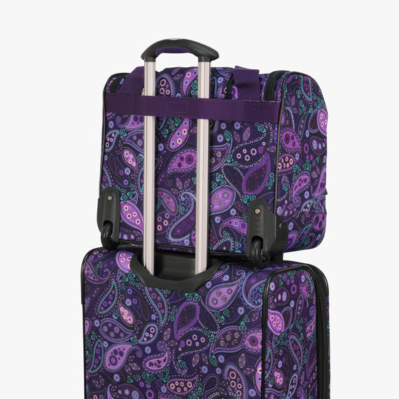 Small Carry-On Mar Vista 16-Inch 2-Wheel Under-Seat Carry-On in Purple Paisley Back Strap in  in Color:Purple Paisley in  in Description:Backstrap