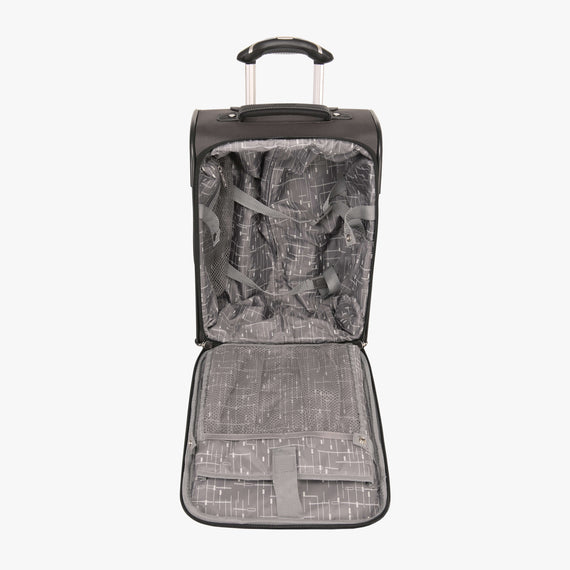 International Carry-On Mar Vista 17-inch Carry-On in Gray Open View in  in Color:Graphite in  in Description:Opened