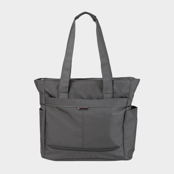 Travel Tote Mar Vista Travel Tote in Graphite Front View in  in Color:Graphite in  in Description:Front