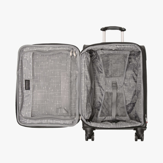 Carry-On Mar Vista 20-inch Carry-On in Graphite Open View in  in Color:Graphite in  in Description:Opened
