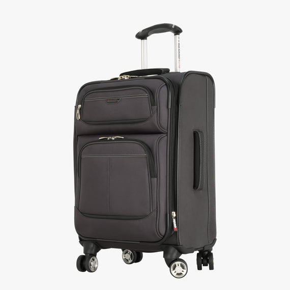 Carry-On Mar Vista 20-inch Carry-On in Graphite Quarter View in  in Color:Graphite in  in Description:Angled View