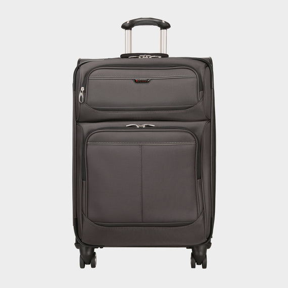 Medium Check-In Mar Vista 24-Inch Check-In Suitcase in Graphite Front View in  in Color:Graphite in  in Description:Front