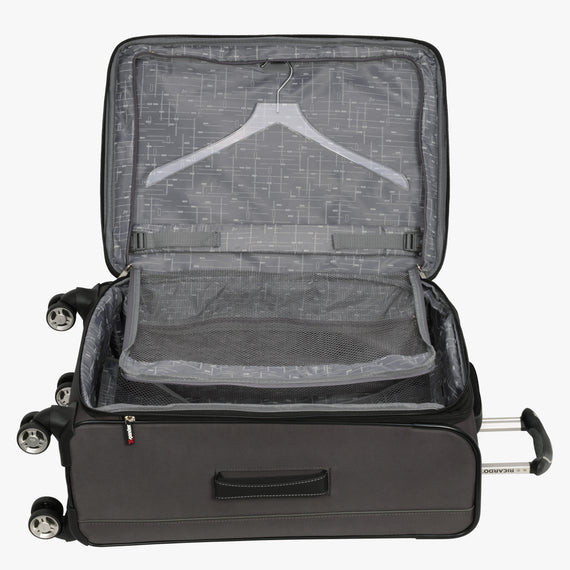 Medium Check-In Mar Vista 24-Inch Check-In Suitcase in Graphite Alternate Open View in  in Color:Graphite in  in Description:Open Detail
