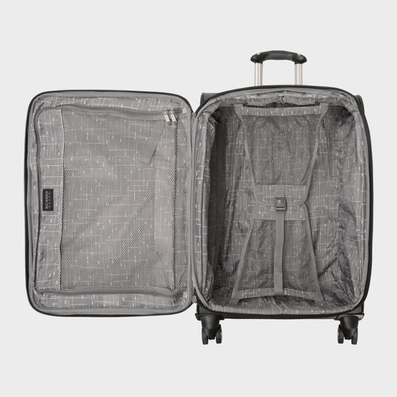 Medium Check-In Mar Vista 24-Inch Check-In Suitcase in Graphite Open View in  in Color:Graphite in  in Description:Opened