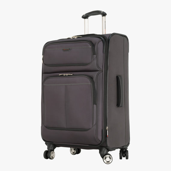 Medium Check-In Mar Vista 24-Inch Check-In Suitcase in Graphite Front Quarter View in  in Color:Graphite in  in Description:Angled View
