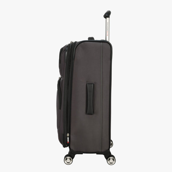 Medium Check-In Mar Vista 24-Inch Check-In Suitcase in Graphite Side View in  in Color:Graphite in  in Description:Side