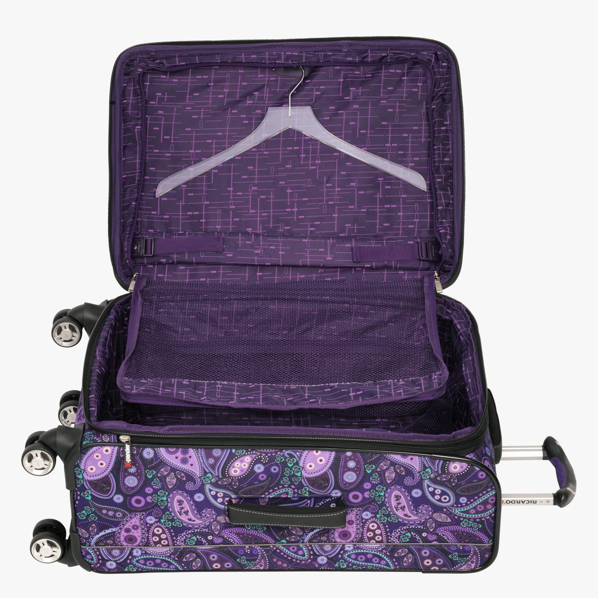 ... Medium Check-In Mar Vista 24-Inch Check-In Suitcase in Purple Paisley  ... 55676b681ca03