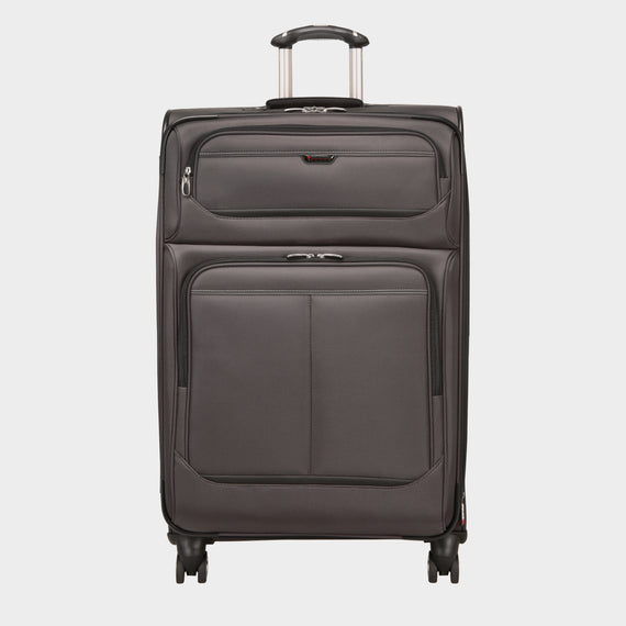 Large Check-In Mar Vista 28-Inch Check-In Suitcase in Graphite Front View in  in Color:Graphite in  in Description:Front
