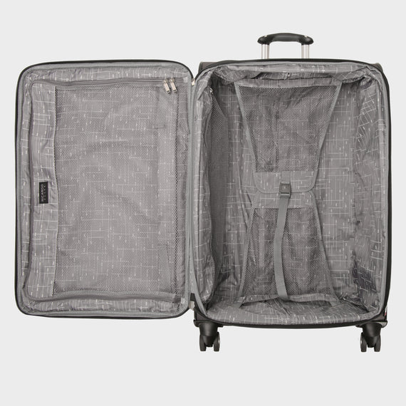 Large Check-In Mar Vista 28-Inch Check-In Suitcase in Graphite Open View in  in Color:Graphite in  in Description:Opened