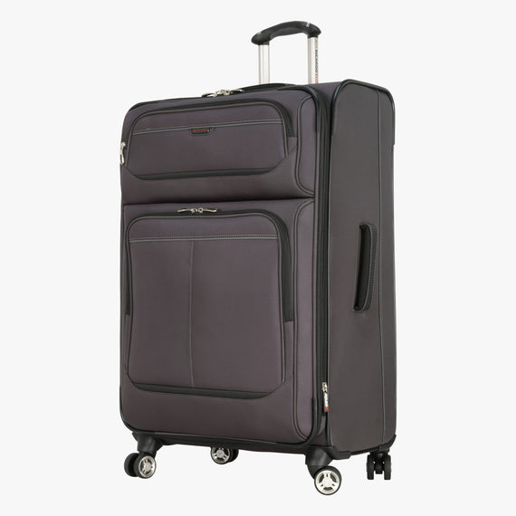 Large Check-In Mar Vista 28-Inch Check-In Suitcase in Graphite Front Quarter View in  in Color:Graphite in  in Description:Angled View