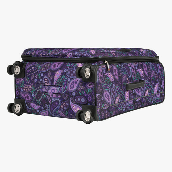 Large Check-In Mar Vista 28-Inch Check-In Suitcase in Purple Paisley Bottom View in  in Color:Purple Paisley in  in Description:Bottom