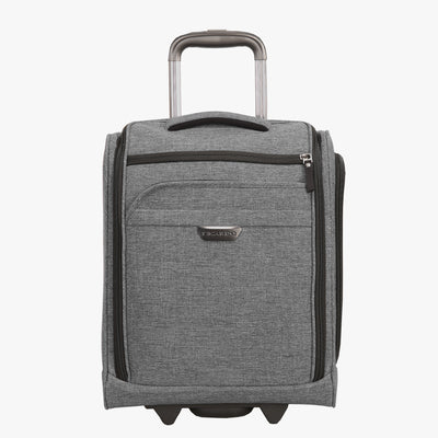 Malibu Bay 16-Inch 2-Wheel Compact Carry-On in Grey Front View~~Color:Grey~~Description:Front