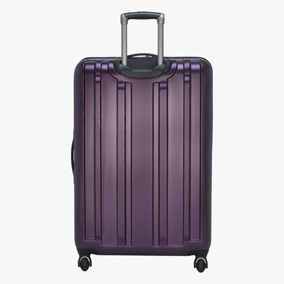 Large Check-In Yosemite 29-inch Check-In Suitcase in Plum Back View in  in Color:Plum in  in Description:Back