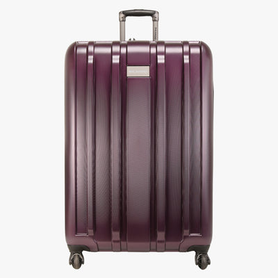 Yosemite 29-inch Check-In Suitcase in Plum Front View~~Color:Plum~~Description:Front