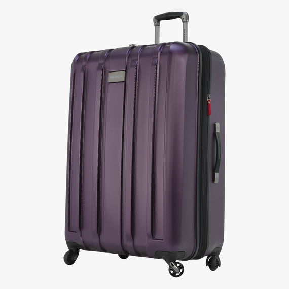Large Check-In Yosemite 29-inch Check-In Suitcase in Plum Front Quarter View in  in Color:Plum in  in Description:Angled View