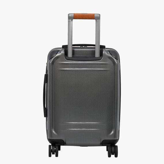 Mobile Office Carry-On Ocean Drive 19-inch Mobile Office in Silver Back View in  in Color:Silver in  in Description:Back