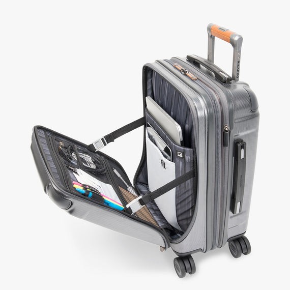 Mobile Office Carry-On Ocean Drive 19-inch Mobile Office in Silver Additional Open View in  in Color:Silver in  in Description:Packed for Travel