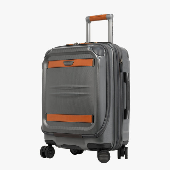 Mobile Office Carry-On Ocean Drive 19-inch Mobile Office in Silver Front Quarter View in  in Color:Silver in  in Description:Angled View