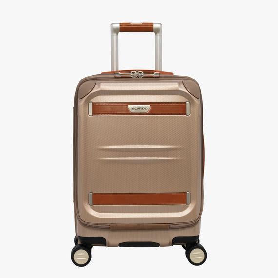Mobile Office Carry-On Ocean Drive 19-inch Mobile Office in Sandstone Front View in  in Color:Sandstone in  in Description:Front