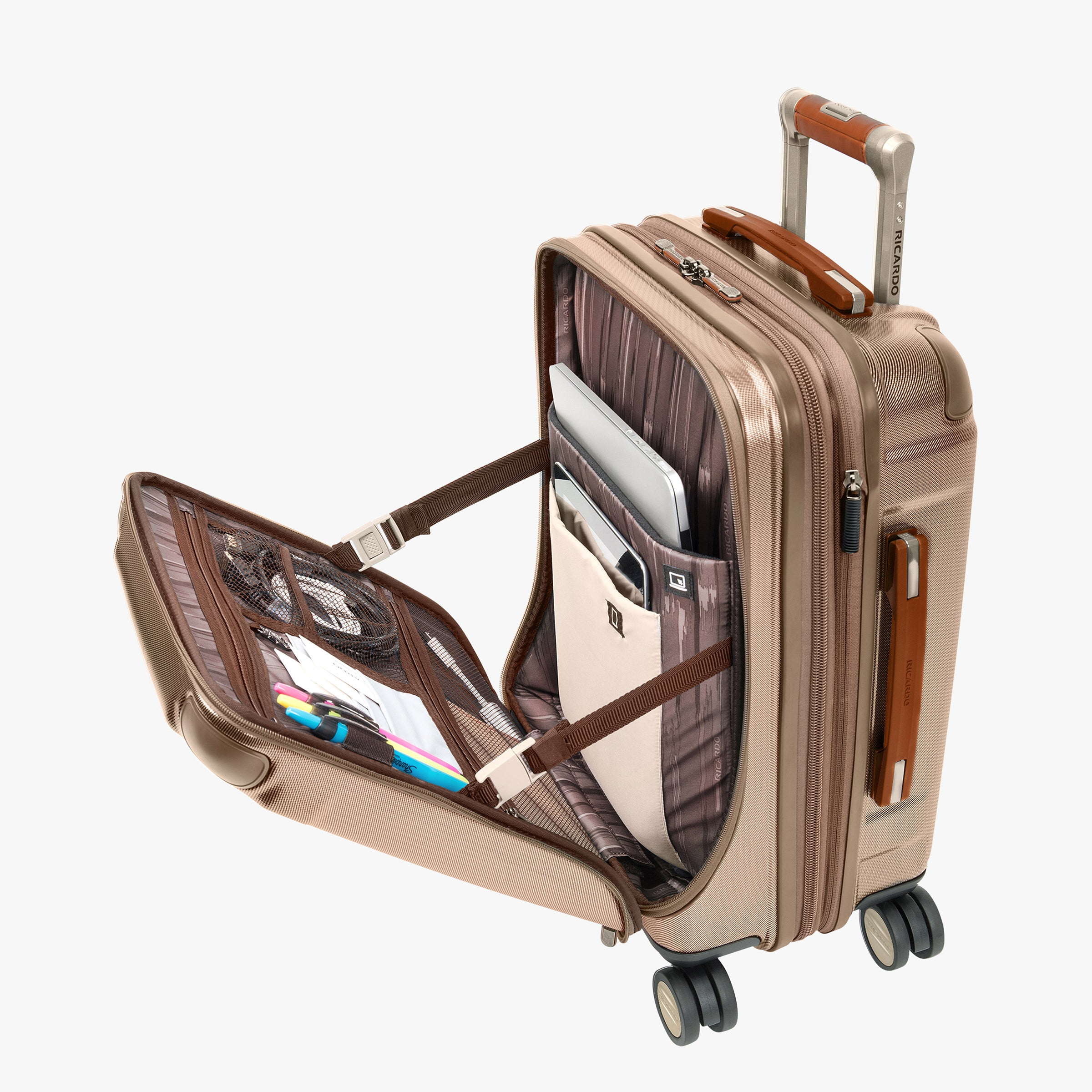 Ocean Drive Mobile Office Carry On Spinner Suitcase