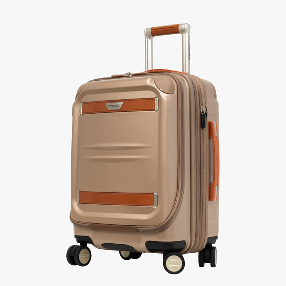 Mobile Office Carry-On Ocean Drive 19-inch Mobile Office in Sandstone Front Quarter View in  in Color:Sandstone in  in Description:Angled View