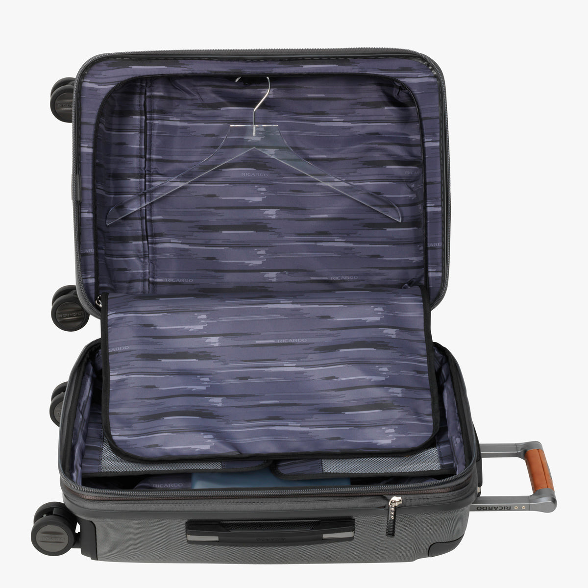 ... Carry-On Ocean Drive 21-inch Carry-On Suitcase in Silver Alternate Open  ... 1c11196b73385
