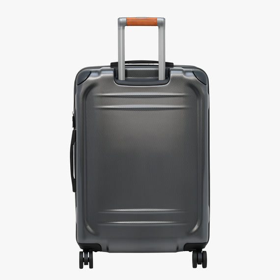 Medium Check-In Ocean Drive 25-inch Check-In Suitcase in Silver Back View in  in Color:Silver in  in Description:Back
