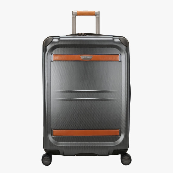 Medium Check-In Ocean Drive 25-inch Check-In Suitcase in Silver Front View in  in Color:Silver in  in Description:Front