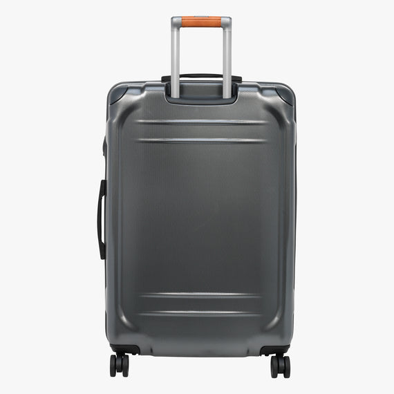 Large Check-In Ocean Drive 29-inch Check-In Suitcase in Silver Back View in  in Color:Silver in  in Description:Back