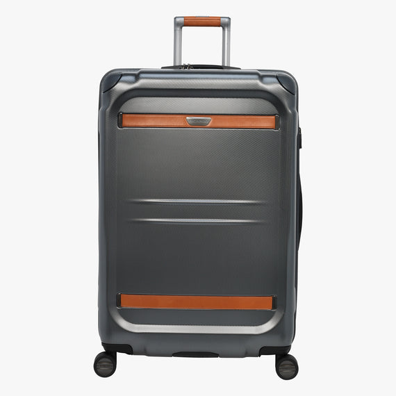Large Check-In Ocean Drive 29-inch Check-In Suitcase in Silver Front View in  in Color:Silver in  in Description:Front