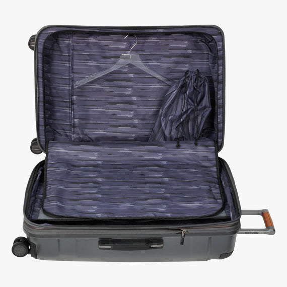 Large Check-In Ocean Drive 29-inch Check-In Suitcase in Silver Alternate Open View in  in Color:Silver in  in Description:Open Detail