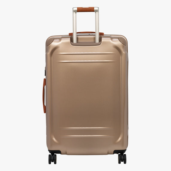 Large Check-In Ocean Drive 29-inch Check-In Suitcase in Sandstone Back View in  in Color:Sandstone in  in Description:Back