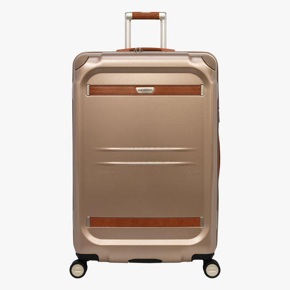 Large Check-In Ocean Drive 29-inch Check-In Suitcase in Sandstone Front View in  in Color:Sandstone in  in Description:Front